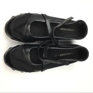 Skechers Black Maryjane Flats with Straps